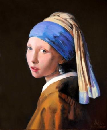 La jeune fille à la perle d'après Vermeer