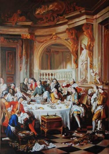 Le déjeuner d'huîtres d'après Jean-François de Troy (XVIIIe s.)